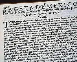 RARE Mexico Latin America OLDEST 1722 Spanish Newspaper