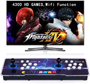 【4300 Games in 1】Arcade Game Console Wifi Function, Pandora Box Classic Retro Game Machine for PC & Projector & TV,1280X720 Full High Definition,Search/Hide/Save/Load/Pause Games,Favorite List
