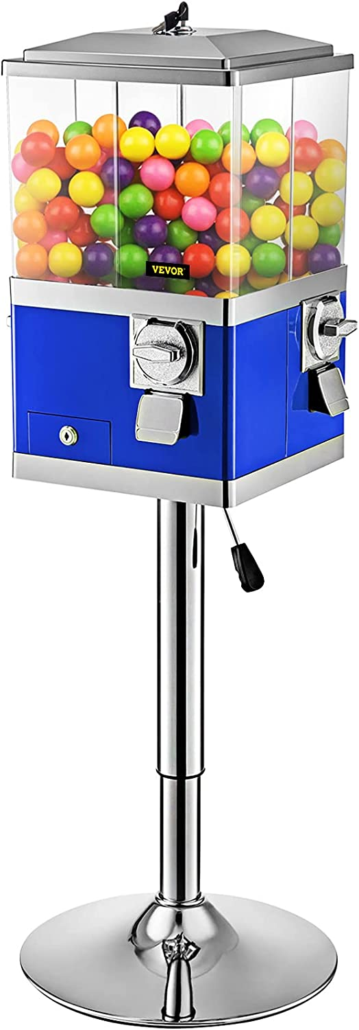 Purchase VEVOR Brand new Gumball Machine with Stand Dispenser Quarter Blue Candy