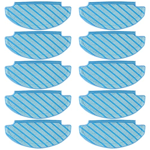 Cabiclean 10 PCS Mop Cloths Cleaning Pads Compatible with Ecovacs Deebot Ozmo T8 aivi Vacuum Cleaner, T8 Washable Cleaning Cloth