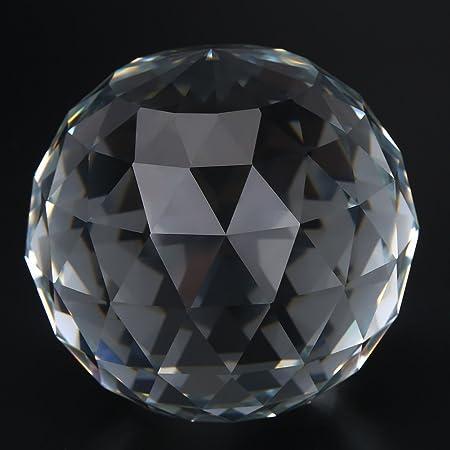Limeow Cristal /à Facettes Boule 10 Pi/èces Boule Verre en Cristal Clear Crystal Ball Prismes Suspendus Lampe Prisme /à Facettes Cristal 30 mm pour Photographie D/écoration Lustres Accueil Bureau