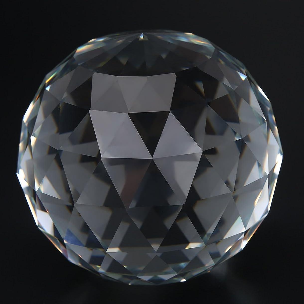 換気するアーネストシャクルトンがっかりする60 / 80mm ガラス球 水晶球 クリア カットクリスタルプリズム ガラスボール ホームホテル 装飾 ハードウェア継手ホット(80MM/3.15in)
