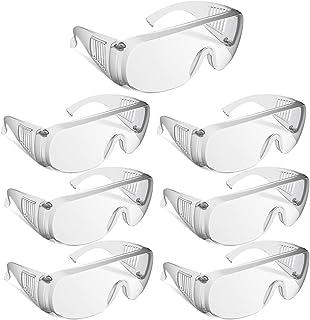 Imtykee 保護メガネ 7個セット 軽量 透明 ゴーグル 高清レンズ オーバーグラス 花粉 細菌 飛沫症対策 眼鏡着用可...
