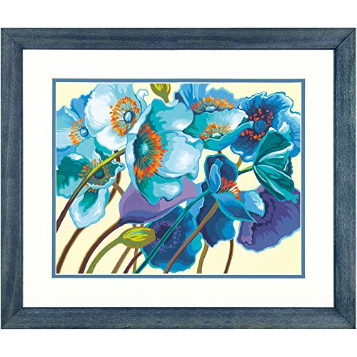 Dimensions Blue Poppies Paint by Numbers for Adults, 14