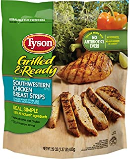Tyson Grilled and Ready, Southwestern Chicken Strips, 22 Ounce (Frozen)