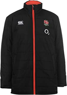 Official Brand Canterbury England Rugby Padded Jacket Mens Black Sports Outerwear Fan Top