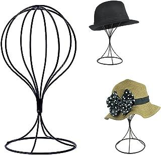 Padshow Freestanding Wire Ball Hat Stand/ Hat Rack / Wig Holder Storage Display Stand,Black Metal