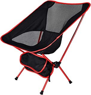 LOOGU Outdoor Ultralight Folding Camping Chair with Portable Carry Bag for Hunting, Fishing, Hiking, Travel