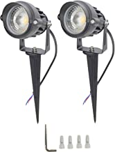 10W 12V Outdoor Landscape Lens Light Waterproof IP65 for Garden Pathway Tree Spotlight, Set of 2