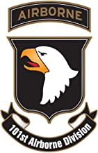 101st Airborne SSI Division US Army Unit Insignia 5 Inch Tall - Indoor Outdoor Vinyl Decal