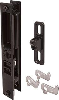 Slide-Co 142023 Sliding Door Handle Set with Keyed Mid Body Hook, Black/Diecast