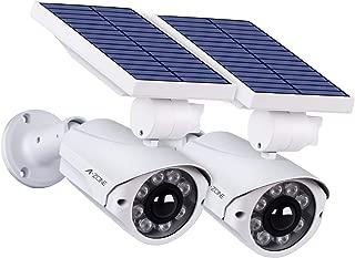 Solar Lights Outdoor Motion Sensor - 800Lumens 8 LED Spotlight 5-Watt IP66 Waterproof, Wireless Solar Flood Light for Porch Garden Patio Driveway Pathway,Aluminum,Pack of 2 (White)