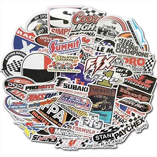 Racing Auto Sticker Graffiti Jdm Nhra Drag Auto Wijziging Waterdichte Sticker Voor Motorhelm Motor Koffer Laptop 50 Stks