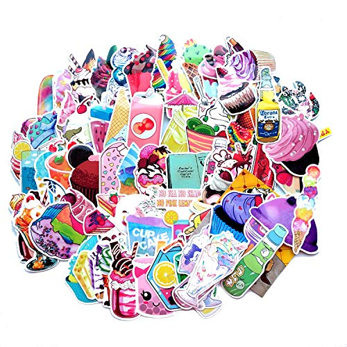 YCYY 71 Pink Summer Drinks Ice Cream DIY Sticker Helmet Cartoon Mobile Phone Computer Motorcycle Sticker