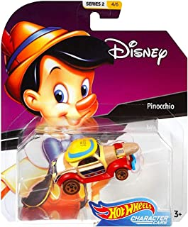 Pinocchio Hot Wheels Disney Character Cars Diecast Car 1:64 Scale