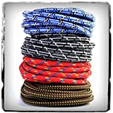 Premium Braided Guitar Cable: 5m / 15ft Mono 1/4 inch Jack Lead for Bass, Electric, Keyboard, Amp etc.