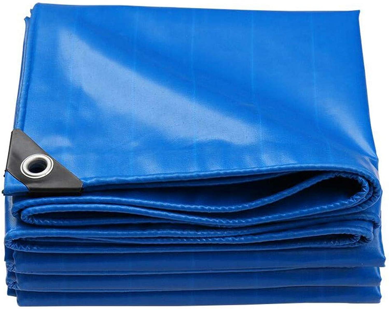 Outdoor Waterproof PVC Tarpaulin, blueee MultiPurpose Ground Tent Camping Sunscreen Dustproof Tarpaulin (Size   2X1.5m)