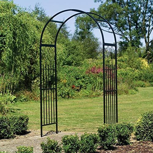 Arco de jardín, establo multifuncional de 21,7 x 41,3 x 84,6 pulgadas, arco de escalada para plantas, patio trasero de metal de alta dureza para decoración de boda de jardín de plantas