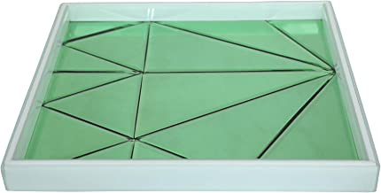 Casa Pop Green Square Bathroom Tray