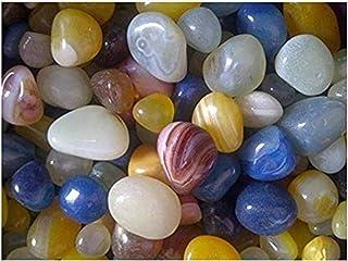 OhhSome 1Kg Mixed Onyx Pebbles Decorative Gradient Gold Glass Stones and for Garden/Pebbles Gravels Aquarium Vase Filler F...