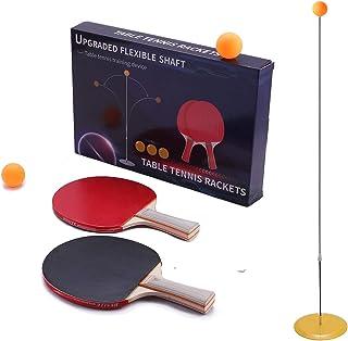 SIRUITON Entraîneur de Tennis de Table, Manche Souple élastique Multifonctionnel Détachable Détente Loisirs Sports Jouet T...