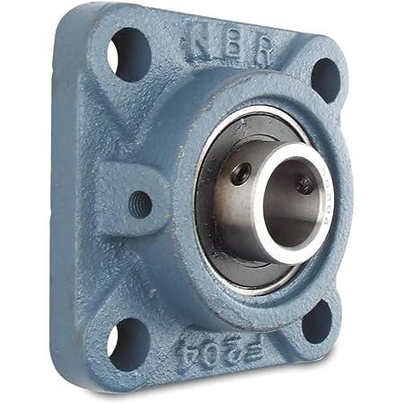 Metric Set Screw Locking Collar 111.1 mm Bolt Center Peer Bearing PER UCF210-50MM 4 Bolt Standard Flange Bearing Unit Relubricable 50 mm Bore Wide Inner Ring Single Lip Seal Cast Iron