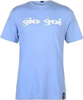 GioGoi Print T-Shirt Mens Blue Tee Shirt Top
