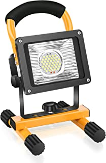 30W LED Work Light Rechargeable, Eletorot Portable Light LED Floodlight Cordless Job Site Construction Lights, Waterproof ...