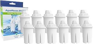 12x filtres universels Aquahouse AH-PBC, compatible pour carafes Brita Classique, Kenwood, Laica, PearlCo, Dafi, Mavea 10...