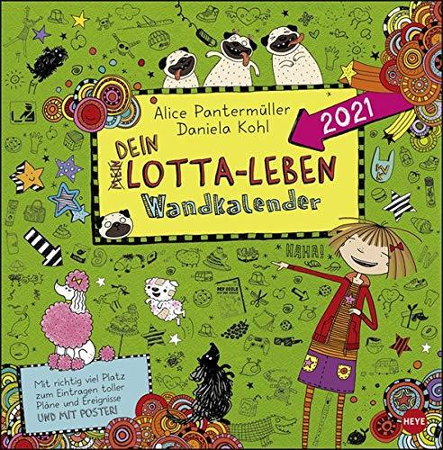 Lotta-Leben Broschurkalender 2021 - mit Poster - Wandkalender mit Monatskalendarium und Platz für Eintragungen - Format 29,5 x 30 cm (29,5 x 60 cm geöffnet)