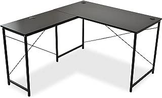 DORIS コーナーデスク 机 パソコンデスク 幅140 L型 ホールカバー付 足元フリー設計 ブラック プライム