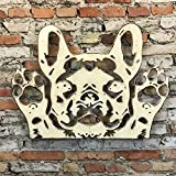 French Bulldog Bust - Metal Wall Art home decor - Handmade - Choose 11