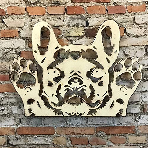 French Bulldog Bust - Metal Wall Art home decor - Handmade - Choose 11', 17' or 23' - Choose your Patina Color, and Choose from 19 different Dog Breeds! (see options) Canine Art