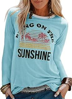 Umeko Womens Tops 3/4 Sleeve Raglan Shirt Baseball Tee Tshirt Plaid Fall Casual Cute T Shirts