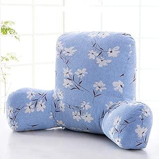 ベッドの背もたれ枕,ソファー大きな背もたれ,3 次元 ソフトバッグ 畳 ウエスト バックを保護 ソファやベッドの 取り外し可能なカバー-V 58x38x20cm(23x15x8inch)