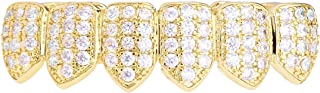 .iced-out. Grillz – Gold – One Size Fits all – Cubic ZIRKONIA Bottom