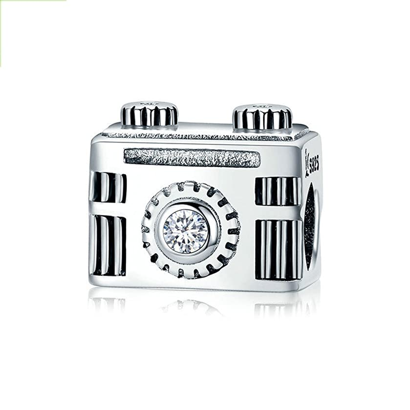 BEAUTY Camera Memory Charm 925 Sterling Silver Travel/Take Picture Bead For Bracelet