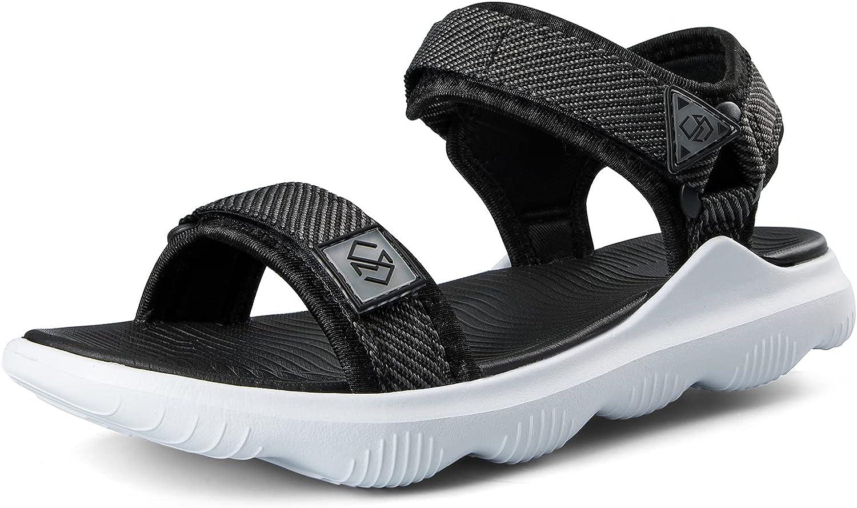COASIS Women's Walking Sandals for Athletic & Outdoor, Comfortable Waterproof Water Sandals with Adjustable Hook and Loop