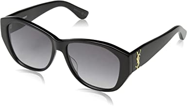 Saint Laurent SL M8 001 56mm Black / Grey Sunglasses