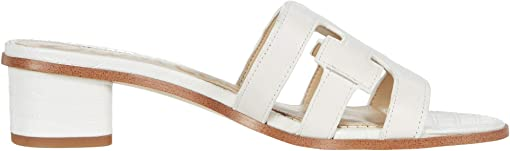 Bright White Geneva Calf Leather