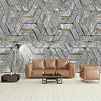 3D 抽象的な幾何学模様カスタム写真の壁紙家の装飾現代のリビングルームのソファテレビの背景の装飾壁壁画,350(W)×256(H)Cm