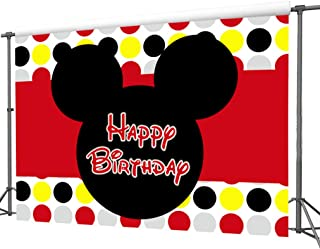 zlhcgd 7x5FT Mickey Mouse Photography Vinyl Photo Background for Kids Birthday Party Backdrops Decoration