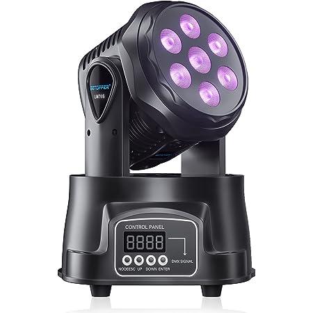 BETOPPER ステージライト 舞台照明 LED 回転 音声起動 7x8W RGBW ムービングヘッド DJ照明 DMX512 ミニ ムービングライト 照明ライト ディスコライト パーライト ストロボ 照明/演出/舞台/ディスコ/パーティー/KTV/結婚式/クラブ/バー イルミネーション(LM70S)