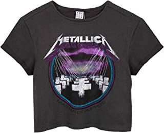 Amplified Metallica Cropped T-Shirt Womens Master of Puppets Band Tee