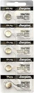 Energizer 394/380 (SR936W, SR936SW) Silver Oxide Watch Battery. On Tear Strip