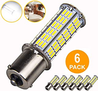 6Pcs Super Bright 1156 1141 1003 1073 BA15S 7506 LED Replacement Light Bulbs for Backup Reverse Turn Signal RV Indoor Lights (6-Pack, 6000K White)