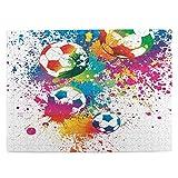 MAYUES Rompecabezas Puzzle 500 Piezas Imágenes animadas de balones de fútbol Inteligencia Jigsaw Puzzles para Adultos Niños Juegos