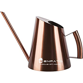 Amazon Com Enpato Small Water Can Indoor Stainless Steel Mini Watering Can Pot With Long Spout For Bonsai Indoor Plants 12oz 350ml Copper 5 1 Garden Outdoor