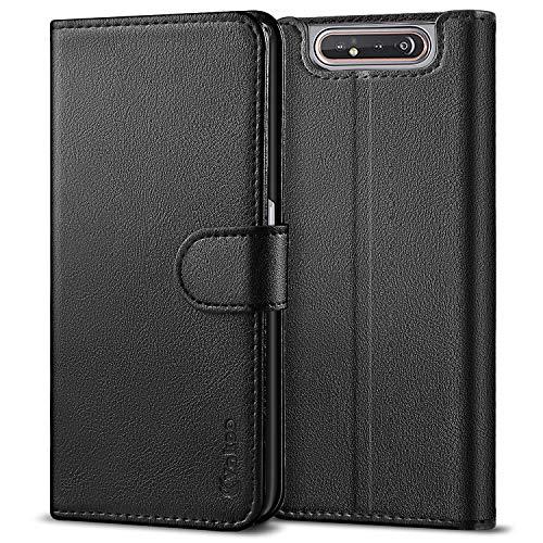Vakoo PU-Pelle Cover per Samsung Galaxy A80 Portafoglio Custodia - Nero