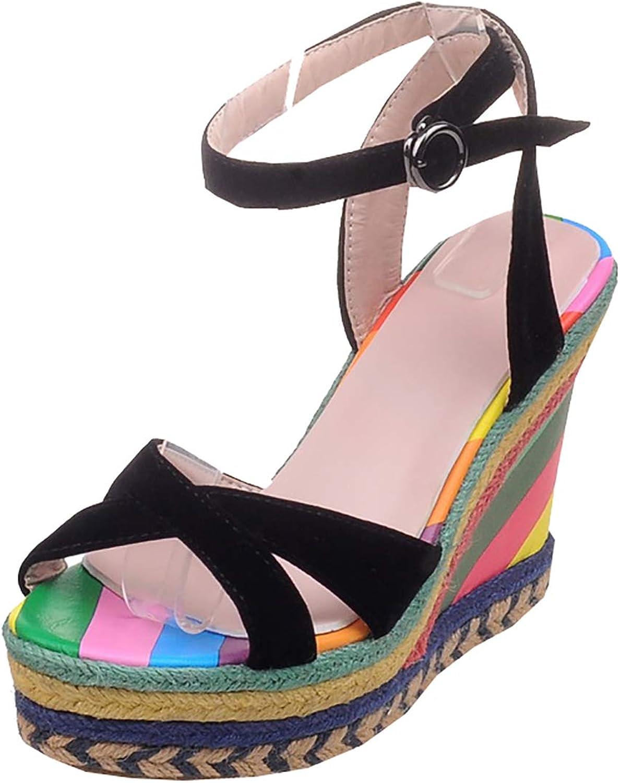Artfaerie Womens Espadrilles High Heel Platform Wedges Open Toe Sandals
